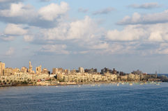 Vista del puerto de Alexandría, Egipto Fotografía de archivo