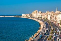 Vista del puerto de Alexandría, Egipto Fotos de archivo