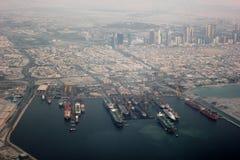 Vista del puerto de Dubai Fotos de archivo libres de regalías