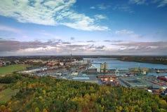 Vista del puerto de Estocolmo. Imagenes de archivo