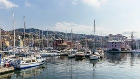 Vista del puerto de Génova imágenes de archivo libres de regalías