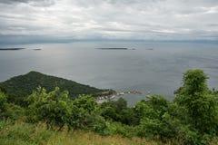 Vista del puerto de Marineland en el lago Kariba Imagen de archivo libre de regalías