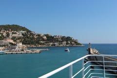 Vista del puerto De Nice Foto de archivo libre de regalías