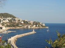 Vista del puerto de Niza, Cote d'Azur Foto de archivo
