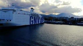 Vista del puerto de Palermo metrajes