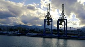 Vista del puerto de Palermo almacen de video