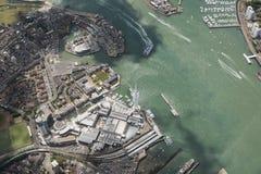 Vista del puerto de Portsmouth Imagenes de archivo