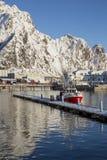 Vista del puerto de Svolvaer Imagen de archivo libre de regalías
