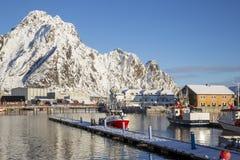 Vista del puerto de Svolvaer Foto de archivo