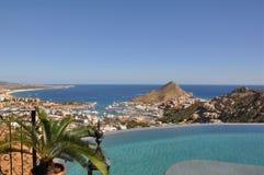Vista del puerto deportivo Cabo San Lucas México Fotos de archivo libres de regalías