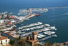 Vista del puerto deportivo en Salerno Imágenes de archivo libres de regalías