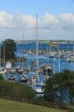 Vista del puerto deportivo, puerto del golfo, Auckland, Nueva Zelanda Imágenes de archivo libres de regalías