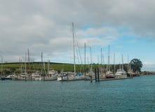 Vista del puerto deportivo, puerto del golfo, Auckland, Nueva Zelanda Fotos de archivo