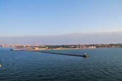 Vista del puerto marítimo Foto de archivo libre de regalías