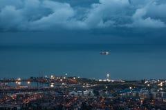 Vista del puerto marítimo de Batumi Fotografía de archivo