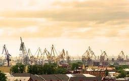 Vista del puerto marítimo de St Petersburg Foto de archivo libre de regalías