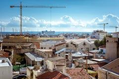 Vista del puerto viejo y de la costa costa de Limassol chipre foto de archivo libre de regalías