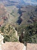Vista del punto del plateau del grande canyon Immagini Stock