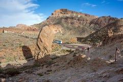 Vista del quadrato al piede della caldera di Cañadas della La Immagini Stock Libere da Diritti