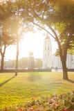 Vista del quadrato centrale Vilnius fotografia stock