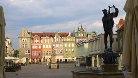 Vista del quadrato principale Rynek città Poznan del 20 luglio 2017 polacco 2 video d archivio