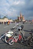 Vista del quadrato rosso a Mosca Fotografia Stock