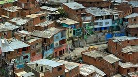 Vista del quartiere povero in America Latina video d archivio