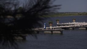 Vista del río almacen de metraje de vídeo