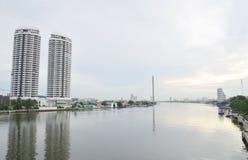 Vista del río Chao Phraya Foto de archivo