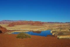 Vista del río Colorado cerca de Hite, Utah Imagen de archivo libre de regalías
