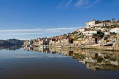 Vista del río de Douro - Oporto Fotografía de archivo