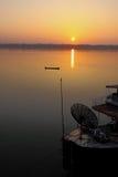 Vista del río de Khong por la mañana, frontera de Tailandia Fotos de archivo