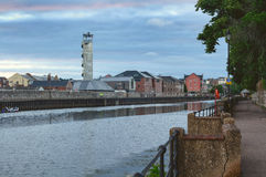Vista del río Exe en Exeter Foto de archivo