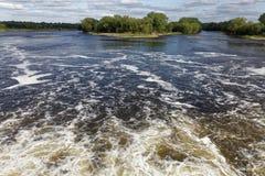Vista del río Misisipi de una presa Fotografía de archivo libre de regalías