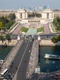 Vista del río Seine, Trocadero y defensa del La de la torre Eiffel parís Imagenes de archivo