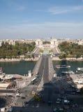 Vista del río Seine, Trocadero y defensa del La de la torre Eiffel París, Imagenes de archivo