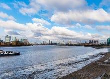 Vista del río Támesis de Greenwich, Londres - Reino Unido Imagenes de archivo