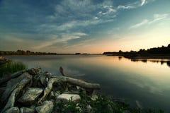 Vista del río Vistula Foto de archivo