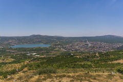 Vista del Ram e di Mas'ade di Berekhat immagini stock