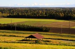Vista del rango de Alaska en la caída Foto de archivo