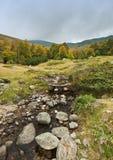 Vista del rango de montaña Karadica Imagen de archivo