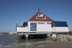 Vista del restaurante de Kalumet Foto de archivo