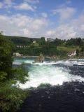 Vista del Rhine Falls, Suiza Foto de archivo libre de regalías