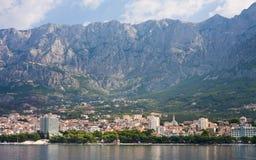 Vista del ricorso Makarska. Il Croatia Immagine Stock Libera da Diritti