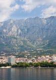 Vista del ricorso Makarska. Il Croatia Immagini Stock Libere da Diritti