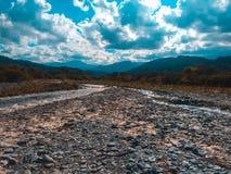 Vista del Rio takana en San Pedro De Colalao obrazy royalty free