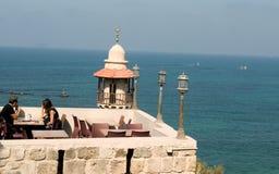 Vista del ristorante del Jaffa Immagini Stock
