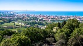 Vista del Riviera Romagnola in Italia Fotografia Stock Libera da Diritti