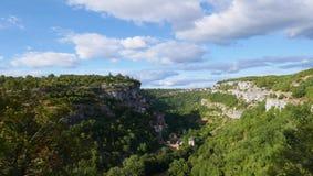 vista del rocamadour Fotografia Stock