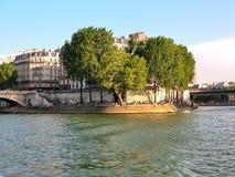 Vista del Saint Louis en París Imagen de archivo libre de regalías